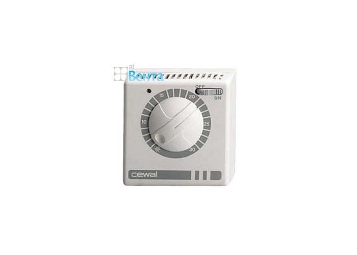 Комнатный термостат для тепловой техники с выключателем и индикатором работы.  Максимальная нагрузка 10А.